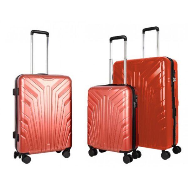 Σετ Βαλίτσες Ταξιδιού 3 τεμαχίων με 4 ρόδες και διάσταση 70*29*45cm σε Κόκκινο χρώμα MS2408